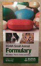 BSAVA Small Animal Formulary: Part A: Canine and Feline, 9th edition