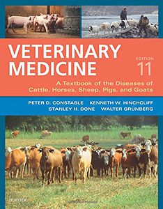 Veterinary Medicine: A textbook of the diseases of cattle, horses, sheep, pigs and goats - two-volume set, 11 edition